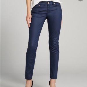 Zara Trafaluc Navy Blue Mid Rise Skinny Jeans